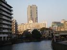 都川から千葉セントラルタワー