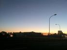 美浜大橋にて夜明け